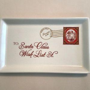 Grasslands Road Santa Letter Trinket Ceramic Dish